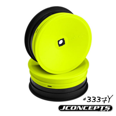 J CONCEPTS INVERSE - B4.1/B4.2 - 12MM HEX FRONT WHEEL (YELLOW) -