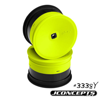 J CONCEPTS INVERSE - B4.1/B4.2 - 12MM HEX REAR WHEEL (YELLOW) -