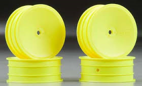 J CONCEPTS MONO - TLR 22 REAR WHEEL (YELLOW) - 4PC